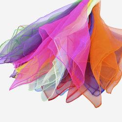 Los niños colorido diseño personalizado 20 Piezas realizar Wobe Danza 30pzas Bufandas Square Bufandas juegos malabares con los bordes con dobladillo