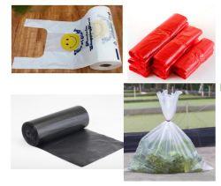 Die Plastiknahrungsmittelgemüse-Früchte, die Shirt-Träger-Weste-Sortierfach-Zwischenlage-Abfall packen, schmeißt Einkaufen-Abfall-Abfall-Abfall-Laubdecke-Film-verpackenbeutel raus
