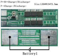 Móviles de pago/Equipamiento comercial batería BMS/18650 3.7 V 2un PCB Li Ion PCM /Tablero eléctrico con función Balance
