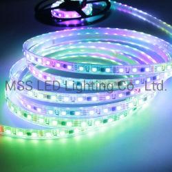 IP65 IP68 풀 컬러 RGB 매직 컬러 Ws2811 5m/롤 유연한 조명 LED 스트립