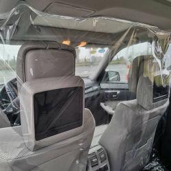 자동 접착 자동차 차 택시 투명한 시트 격리 필름 차 필름 택시를 위한 플라스틱 PVC 격리 필름
