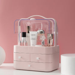 Parfum rouge à lèvres maquillage Fard à paupières Lash Fondation brosse Boîte de rangement de la vanité des cosmétiques composent l'organisateur de maquillage