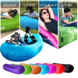 Camping viajes aire inflables Lazy tumbona Sofá cama para dormir de llenado de aire Tumbona de playa Bolsa Sofá inflable