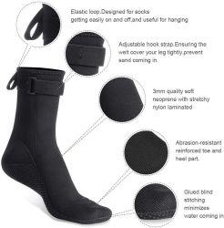 جوارب فاخرة من نوع Neoprene Beach Sock من الماء بطول 3 مم للغوص تحت الماء، والسباحة تحت الماء