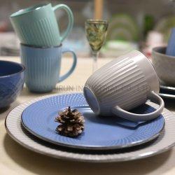 Mix & Match Soild Gaufré en grès de couleur de la vaisselle défini