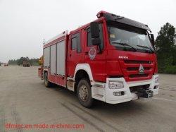 8T Sinotruk HOWO Jy80 شاحنة الإطفاء الإنقاذ مع بطل الولايات المتحدة الأصلي الراعي الكهربائي N16800xf
