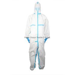 FDA van Ce de Beschikbare Beschermende Steriele Kleding AAMI 4 van de Overtrekken van het Kostuum van de Isolatie voor Medisch Gebruik