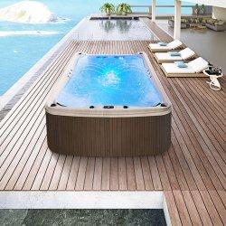 Горячая ванна выше древесной массы джакузи бассейн купаться СПА 4 метра оболочки для использования вне помещений