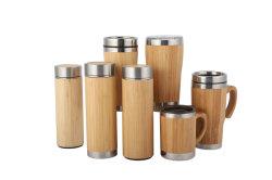 마시는 컵 두 배 벽 차 병 커피잔 스테인리스 대나무 공이치기용수철