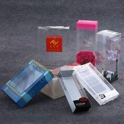 Embalaje de regalo transparente plegable de PVC PET PP transparente Caja de plástico con impresión