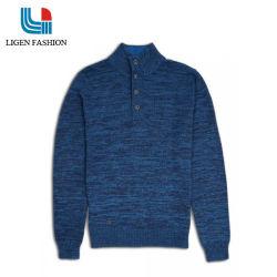 Cardigan mezzo degli uomini con il maglione casuale del pullover della chiusura del tasto