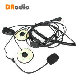 Los dedos de 2 pines del casco de motocicleta Ptt micrófono con auriculares para Kenwood Baofeng Walkie Talkie