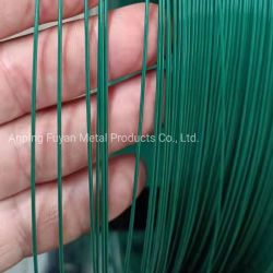 PVC plástico recubierto de PE de alambre de hierro galvanizado para embalaje de productos de consumo de enlace diario