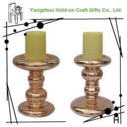 Lámpara de Vidrio Soplado de oro Festival Candleholder conjunta de varios de tamaño medio con el antiguo patrón de plata