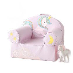 居間の柔らかいファブリックはユニコーンの動物のソファーの椅子をからかう