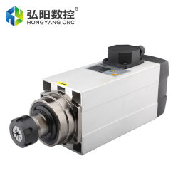 Hycnc HQD 6kW 공랭식 스핀들 모터 고속 18000rpm 저렴한 공기 냉각 Gdf60-18z-6 천공 밀링 CNC 선반 스핀들