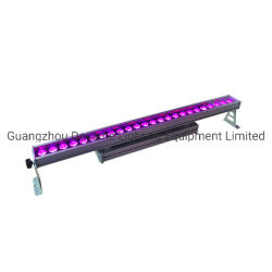 24pcs 18W UV RGBWA 6en1 LED Bar en plein air de lavage de l'éclairage mural