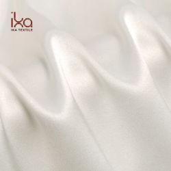 Lavable en gros Custom tissé épais tissu stretch satin de soie blanche pour les pantalons