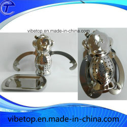 Leaf infuser le thé avec des chaînes/la crépine de thé en acier inoxydable/boule de thé