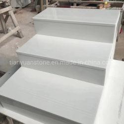 인공적인 대리석 순수한 백색 Nano 유리 12mm 간격 층계
