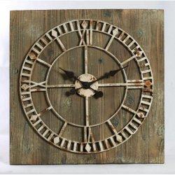 Commerce de gros Vintage horloges murales en bois avec la conception d'accueil