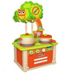 Giocattolo di legno della cucina di modo nuovo per i capretti ed i bambini con figura del gufo