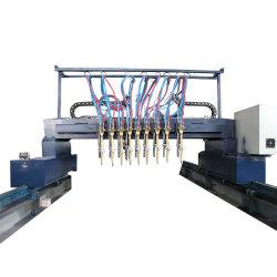 CNC van de brug de Multi Hoofd Rechte Scherpe Machine van het Gas van het Staal van het Plasma van de Vlam