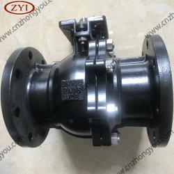 중국 Dn80 플랜지 플로트 유형 Reduce 보어 A216 WCB 볼 밸브