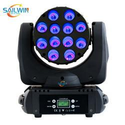 Olde 12*10W 4в1 RGBW КРИ светодиод перемещения головки блока цилиндров с Powercon дальнего света для освещения