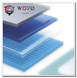 Многослойные поликарбоната полый лист кровельные панели красочные Lowes изделий из пластмасс