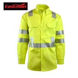 Безопасность дорожного движения по отношении огнестойкие Хлопок рубашки ANSI совместимых 107-2015 типа R класса 3