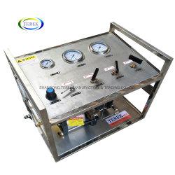 Pompa di sovralimentazione a gas ad alta pressione a doppia azione azionata ad aria per Prova di pressione