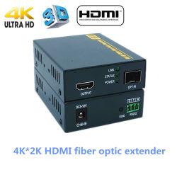 Convertisseur Media de Vidéo de Fibre Optique de 4k HDMI