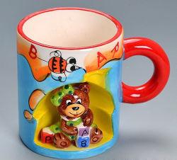 재미있은 카툰 사용자 지정 3D 스톤웨어 세라믹 컵 맞춤 머그컵