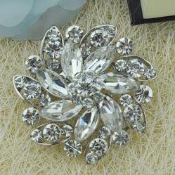 Nuevo diseño de moda broches de aleación de piedra de cristal con el pasador Accesorios