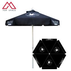 De openlucht Hexagonale Parasol van de Paraplu van het Terras van het Aluminium voor het Zonnescherm van het Bier van het Hotel van het Terras van het Restaurant