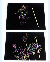 DIY детей Gold нуля мелованная бумага чертеж нуля off карту с пером печать Cat изображения