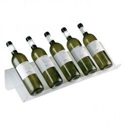 Venda por grosso visor plástico garrafa de vinho com 5 garrafas