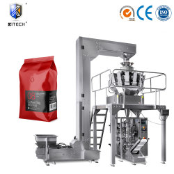 Verdes asados calificado máquina de llenado de granos de café máquinas de embalaje Kitech