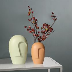Personalità di moda creativa ceramica astratta Arte soggiorno Camera da letto Casa Studio stanza ragazza Donna Donna Lady Vase ornamenti decorazione