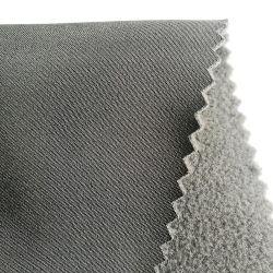 Waterbestendig 50d Interlock gebonden Knit stof Shu Velveteen Sherpa Fleece met TPU-gebonden stof