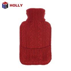 더운물병 케이블에 의하여 뜨개질을 한 덮개가 최신 고무 PVC 양수막 안마에 의하여 플러그를 꽂는다