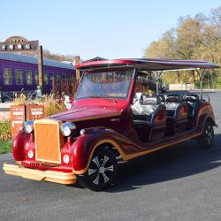 De rode Kar van het Golf van het Hotel Elegante 8 Persoon Gebruikte met AC afzonderlijk Motor