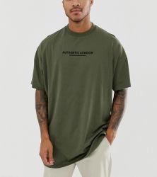 OEM Custom logotipo impreso en blanco suelto Tees 100% algodón impresión normal de gran tamaño Streetwear camisetas de los hombres