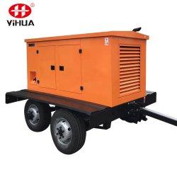 مجموعة مولدات متنقلة للمقطورة ذات محركات الديزل المزودة بعجلات بقدرة 50 كيلووات/100/200 كيلوفولت أمبير ساكت