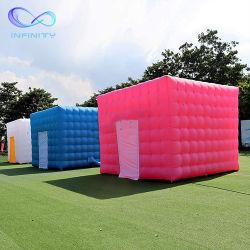 個人化された Inflatable 立方体のテントの屋外の子供はテントの家の広告をする遊ぶ インフレータブルズスクエアバックヤード・パーティー・テント