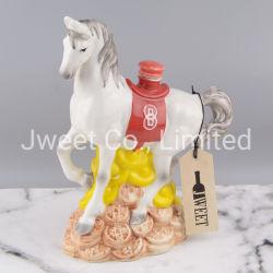 Frasco de Arte Cerâmica Vinho Animal Cavalo Garrafa de licor de forma personalizada