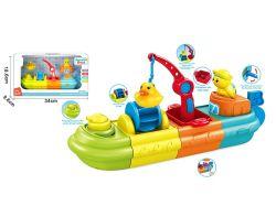 بلاستيك الأطفال حمام سباحة الألعاب كارتون زورق صغير لعب