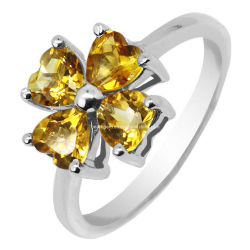 Citrino anillos de joyería de plata de la moda (GR0012)