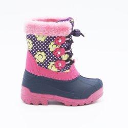 Les filles des bottes bottes de neige fleur rose Bottes d'hiver